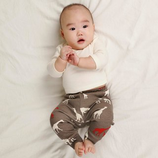 gujui Love Giraffe (gray) - Organic cotton trousers