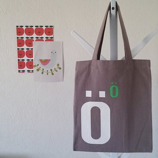 Kikare cold letters canvas bag - Ö