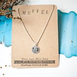 MUFFëL 925 Silver Silver Series - fine-sided small round silver coins hand and chain