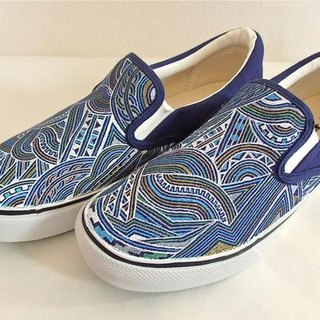Hand Drawing Shoes/Front Drawing/Turquoise Blueover Drive