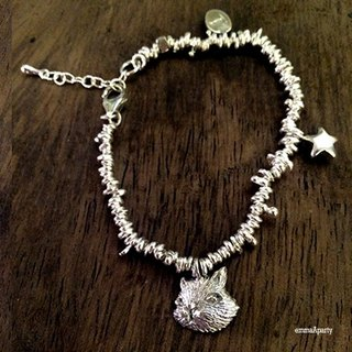 EmmaAparty sterling silver bracelet 'flower cat bracelet