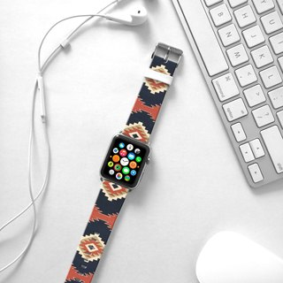 Apple Watch Series 1 , Series 2, Series 3 - Indigo Navajo Tribal Pattern Watch Strap Band for Apple Watch / Apple Watch Sport - 38 mm / 42 mm avilable