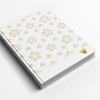 Rococo Strawberry WELKIN Handmade Notebook / Pocket / Diary - Shining Stars