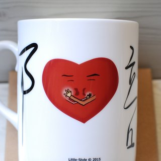 [Bone china mug] accompany (Custom)