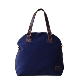 [Happa] Dome canvas shoulder bag - canvas classic stone wash (Navy Navy)