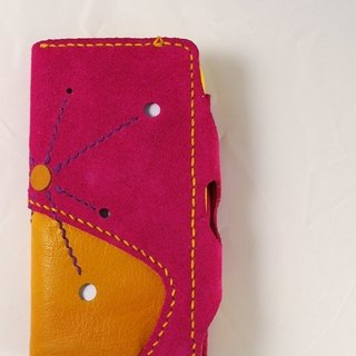Htc pink clamshell phone holster may shedding hand-sewn 140508
