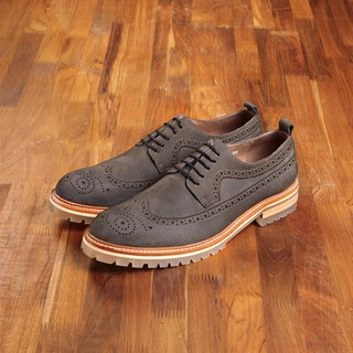 Vanger elegant and beautiful ‧ retro long rib carved through the bottom of casual shoes Va169 matte gray