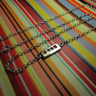 Mittag NL343 train necklace_ train necklace designer handmade silver necklace - with brand wood jewelry box, silver polishing cloth...