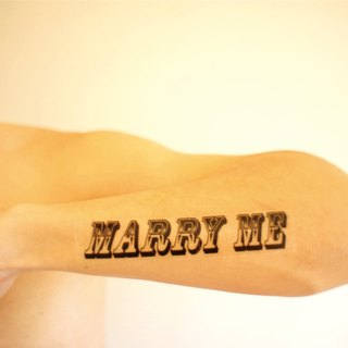 [Let's Celebrating] propose small objects / MARRY ME / Tattoo Sticker