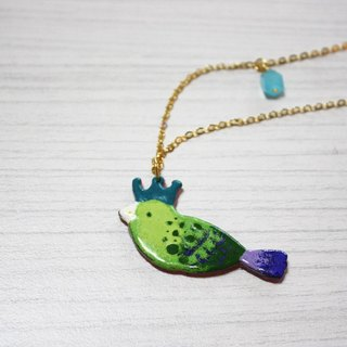 Crown Bird Enamel long chain