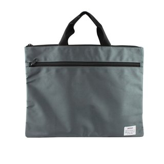 AMINAH leisure Japanese style wind - wide square flat bag (grey) [am-0244]
