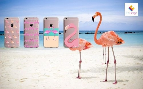 Pink Crane Pattern Custom iPhone X 8 7 6s Plus 5s Samsung note S7 S8 S9 plus HTC LG Sony Mobile Phone Case Mobile Phone Case