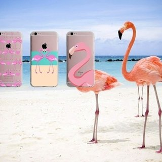 Pink crane pattern custom iPhone X 8 7 6s Plus 5s Samsung S7 S8 S9 phone case