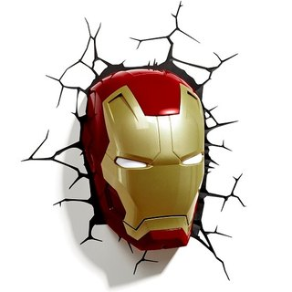 3D Light FX - Marvel Series Iron Man Mask - 3D立體造型燈 鋼鐵人 頭盔