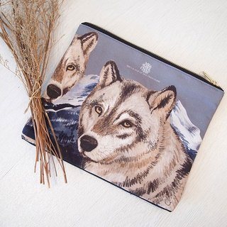 [Me & amp; a Cup of Hot Chocolate] Wolf Gang / wild wolf custom Clutch