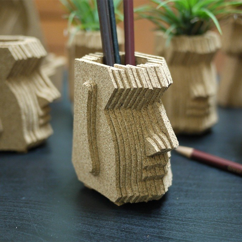 Moai Moai stone statues, creative pen, gift stationery, hand-made cork, stacked art, customized
