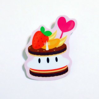 Afternoon tea party: strawberry sandwich cake waterproof stickers