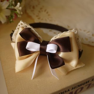 Safety x pet collar sweet toffee (brown) cats and dogs / Collar / tie / Jojo ♥ cherry pudding Cherry Pudding ♥