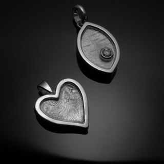 ReShi / fingerprint package frame love fall / 925 sterling silver / fingerprint silver / custom handmade / Valentine's family gifts
