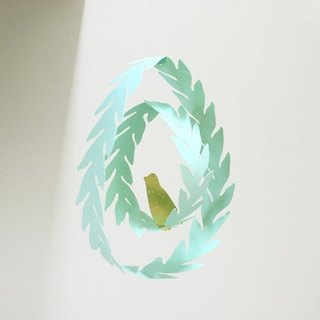 The leaves of bird ornaments DIY