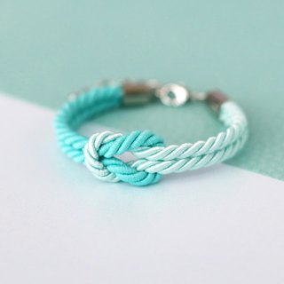Mint / Light mint knot rope bracelet