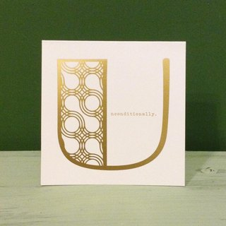 Bronzing letter card envelope sticker set -U