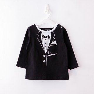 PUREST small gentleman suit / long sleeve / children's shirt / T-shirt [black models] exclusive style design