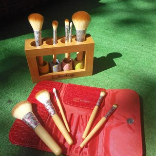 Bamboo Brush Set (with volume bags) Hibiscus paragraph defective products sold will not be returned