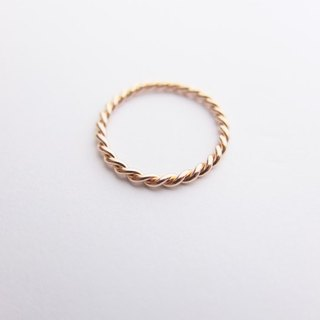 [B.B] 18K rose gold. Twisted small tail ring