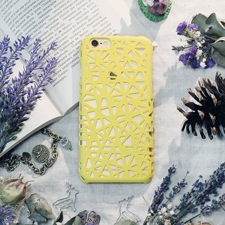 iPhone6 ​​/ mobile phone shell / hard shell / ostrich yellow / gift / weaving