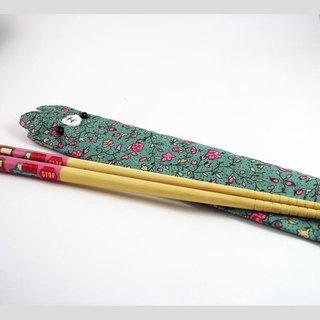 "Cheerful. ""Portable chopsticks sets / green chopsticks / chopsticks / tableware"" bloom _ blue"