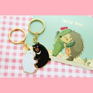 Love Sweet Group - 2 - Only You Card, Perfect Together Keyring - Polar Bear and Taiwan Black Bear