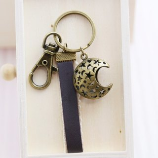 Star moon key ring / pendant