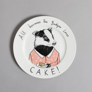 All because the badger loves cake 骨瓷餐盤 | Jimbobart