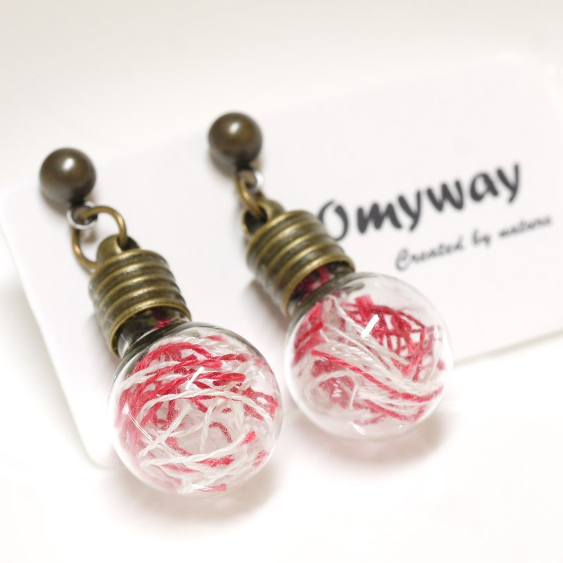 Love Home For Omyway Diy Handmade Embroidery Thread Sewing Red