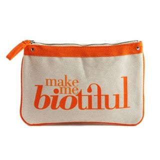 France my biotiful bag Organic Flat Big Flat Pouch-Orange