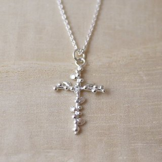 [Jewelry] Jin Xialin ‧ lobular cross - Silver