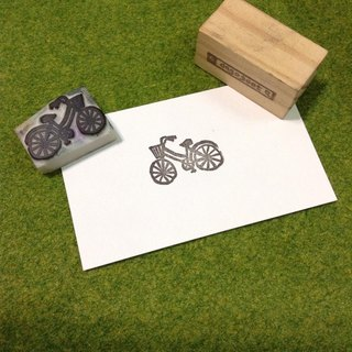 ▣ bicycle hand carved rubber stamp