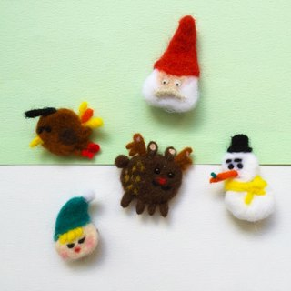 From Shaw Christmas | wool felt brooch
