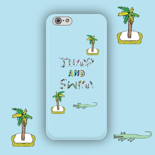JUMP&SWIM jumps into the water before you can swim! -iPhone/Samsung/ Sony phone case