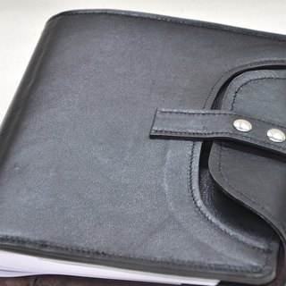 Cycle Life Series: Black lambskin A5 6 hole loose-leaf notebook