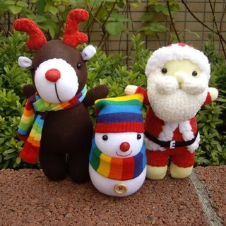 Happy bleating hand for Shop - Christmas Series Doll (. Santa Claus doll Christmas snowman elk) / 1