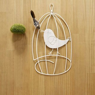 Happy White Bird Wall-Mounted Decorative