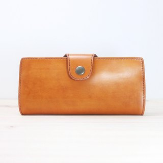 LION's Handmade Leather-- Long Wallet (Photo Clip)