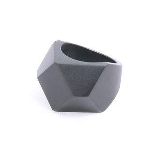 Ebony Diamond shape wood ring