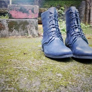 # 880 # I'm not the kind of ㄇ ㄟ double-tiered military boots you want dark blue
