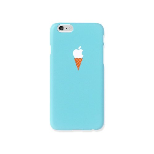 iPhone X case - teal ice cream case for iPhones  - non-glossy L03