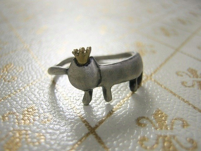 miaow that became king ( cat sterling silver ring 貓 猫 指杯 銀 )