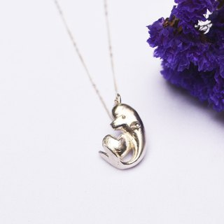 Natural series -Dolphin-handmade Silver necklace