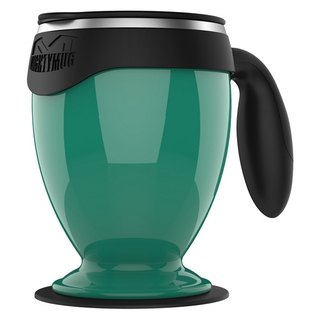 [Suction cup of wonders] Desktop bilayer Gai Make Cup - Stainless Monarch Edition (Green)